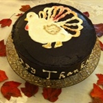 Thanksgiving Chocolate Cake (Child Decorated)